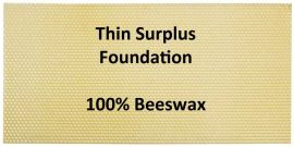Wax Foundation - Medium Thin Surplus